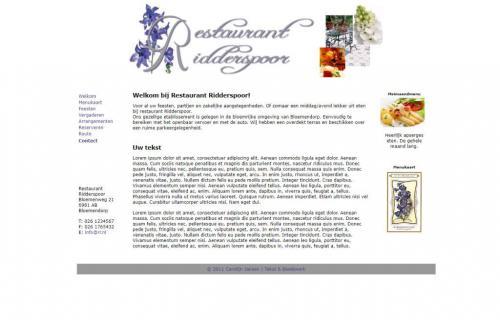Website-Restaurant-Ridderspoor