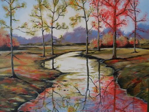 Herfstbos - tutorial ColorByFeliks - acrylverf op canvas